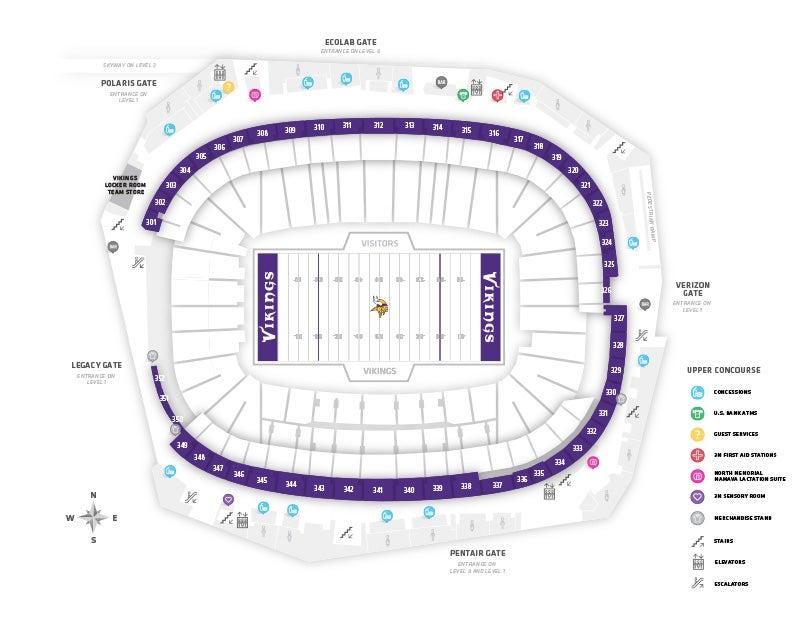 Us Bank Stadium Gate Map Stadium Maps   U.S. Bank Stadium