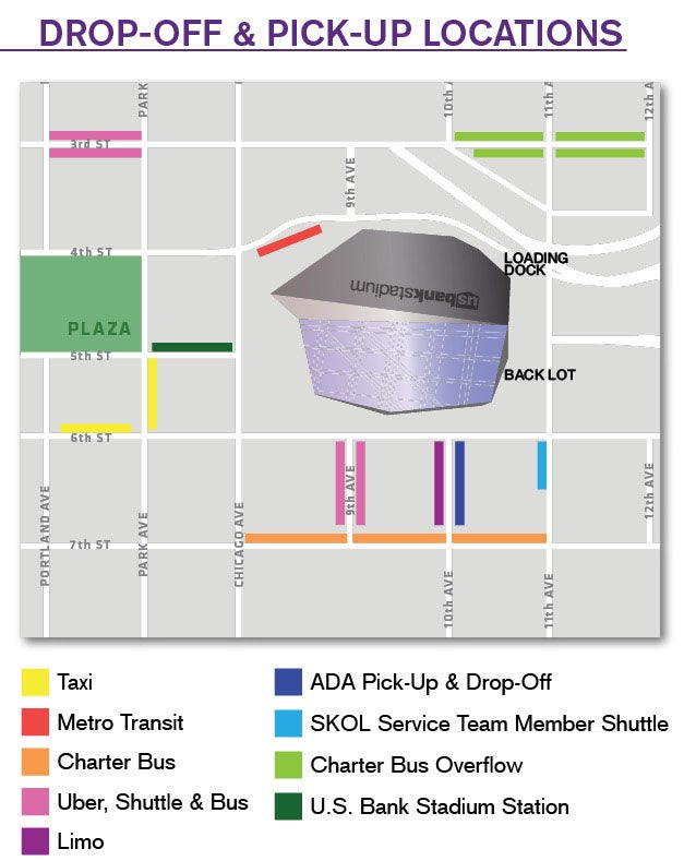 Public Transportation US Bank Stadium - Parking map us bank stadium