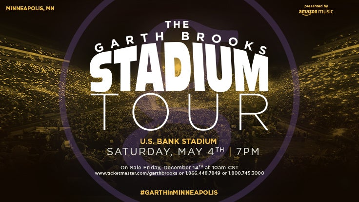 TWELVE TIME CMA-ACM ENTERTAINER OF THE YEAR GARTH BROOKS COMES TO U.S. BANK STADIUM