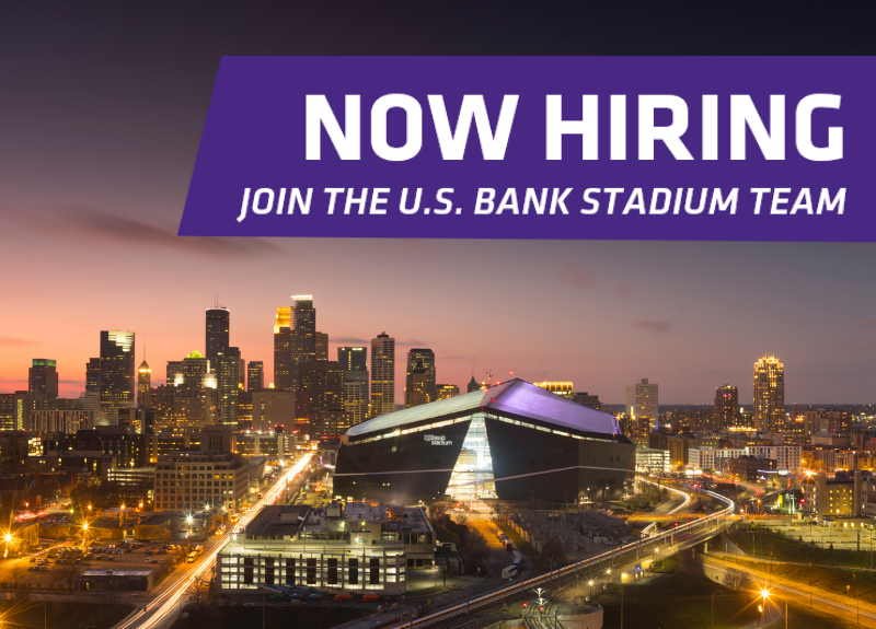 More Info for U.S. BANK STADIUM ANNOUNCES PART-TIME JOB OPPORTUNITIES AND HIRING FAIR