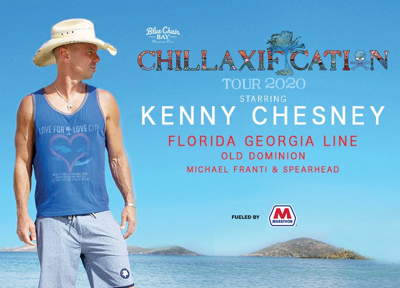 More Info for KENNY CHESNEY POSTPONES INITIAL CHILLAXIFICATION DATES