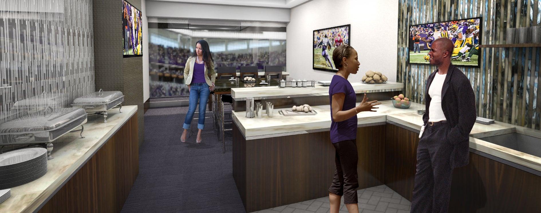 Norseman Suites US Bank Stadium - Us bank stadium suite map