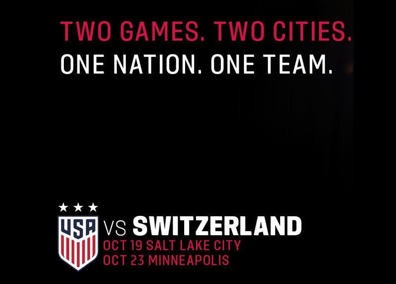 More Info for U.S. Women's National Team Will Face Switzerland In A Friendly Match On Oct. 23 In Minneapolis